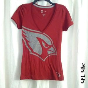 NFL Nike Cardinals team v-neck tee med